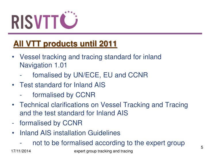 All VTT products until 2011
