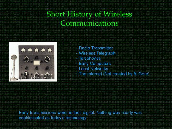 Short History of Wireless Communications