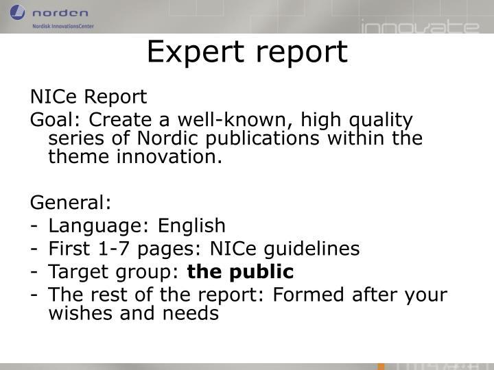 NICe Report
