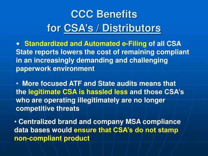 CCC Benefits