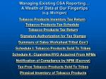 managing existing csa reporting a wealth of data at our fingertips e g michigan