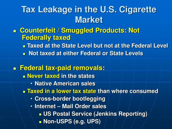 Tax Leakage in the U.S. Cigarette Market