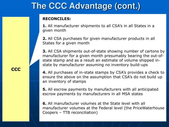 The CCC Advantage (cont.)