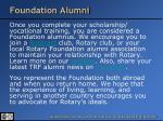 foundation alumni