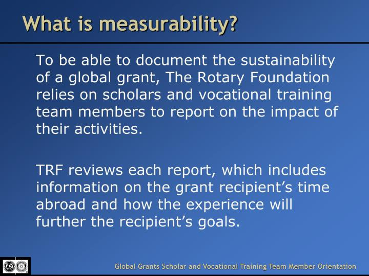 What is measurability?