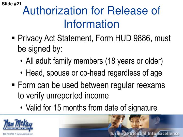 Authorization for Release of Information