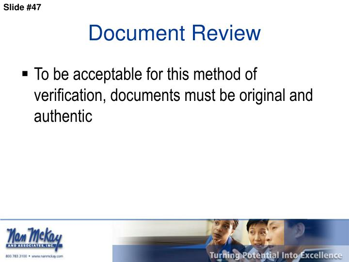 Document Review