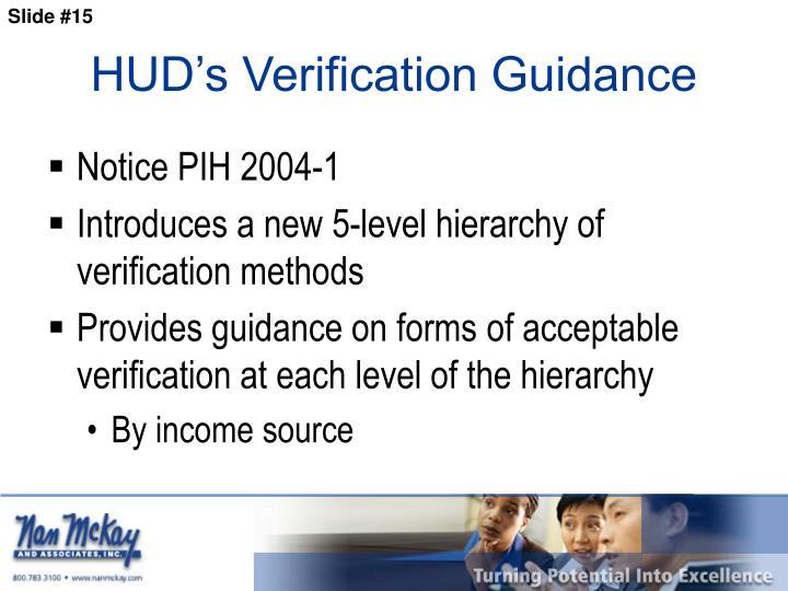 HUD's Verification Guidance