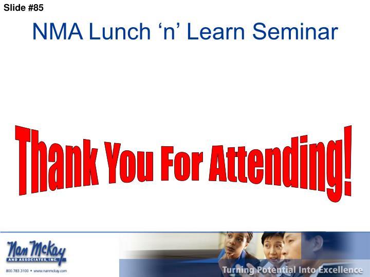 NMA Lunch 'n' Learn Seminar