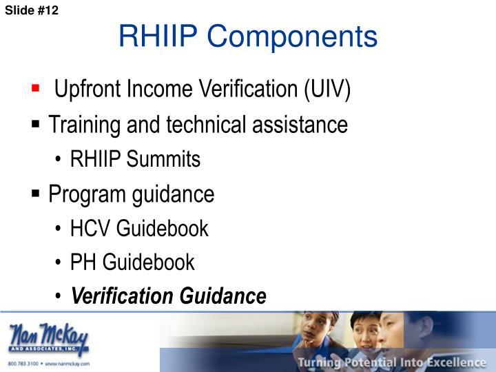 RHIIP Components