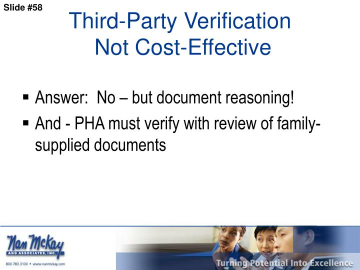 Third-Party Verification