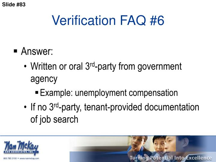 Verification FAQ #6