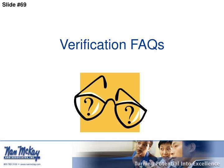 Verification FAQs