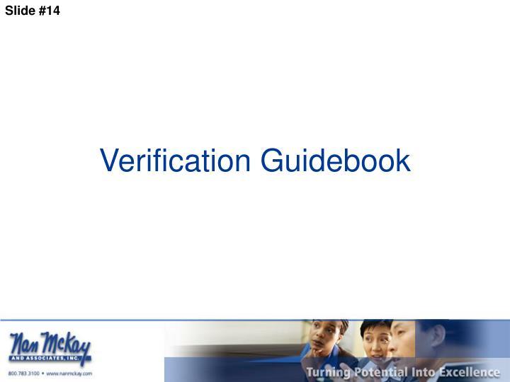 Verification Guidebook