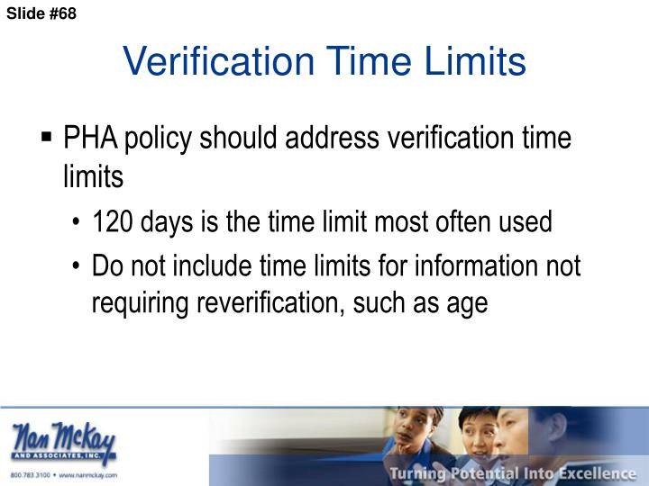Verification Time Limits
