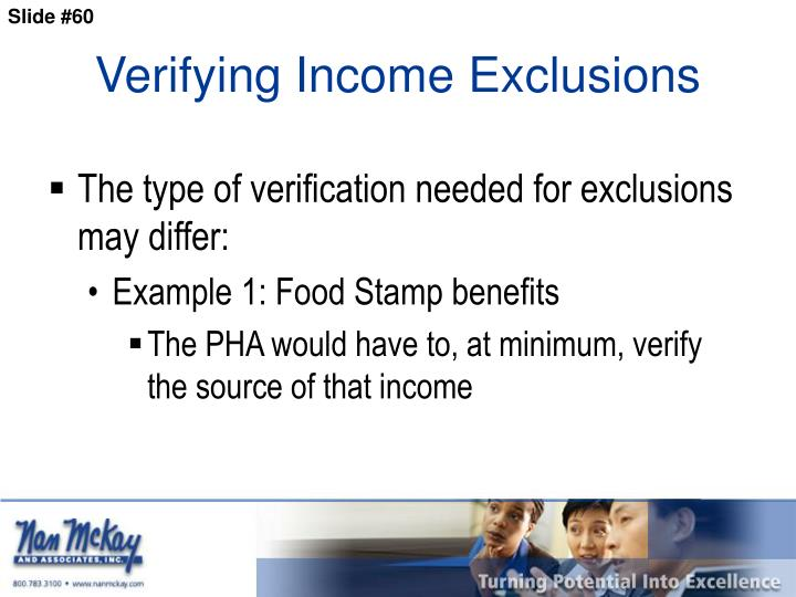 Verifying Income Exclusions