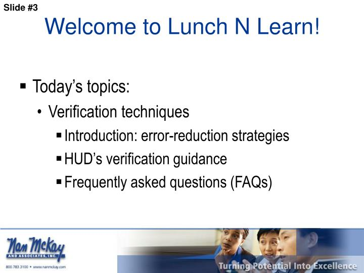 Welcome to Lunch N Learn!