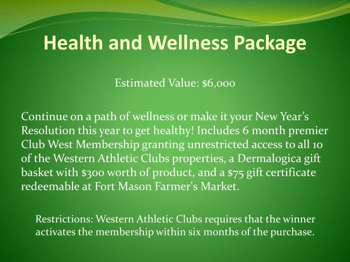 Health and Wellness Package