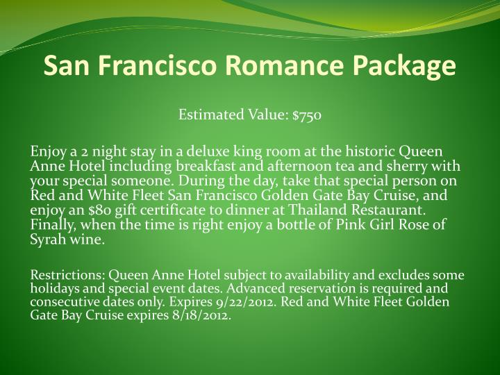 San Francisco Romance Package