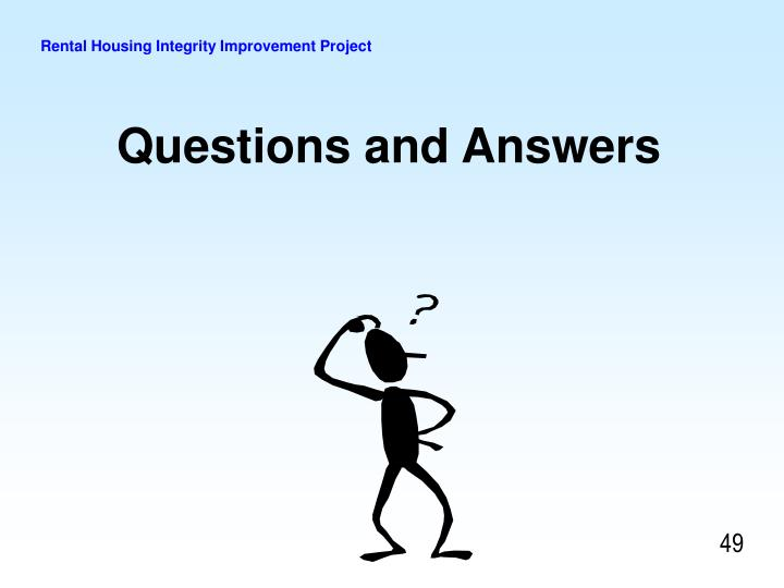 Rental Housing Integrity Improvement Project