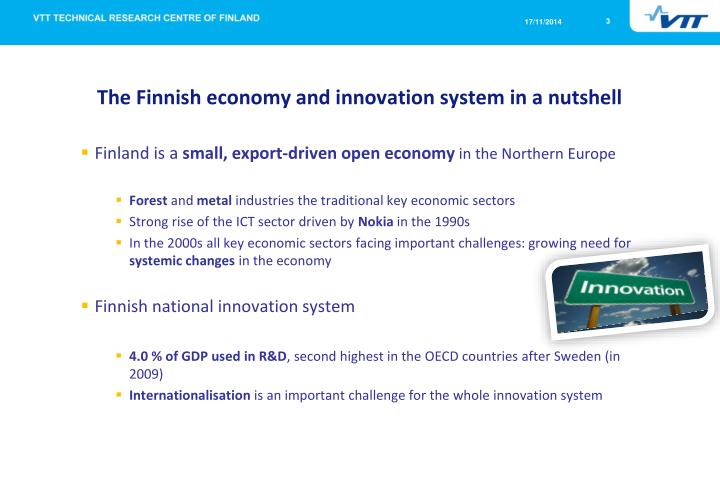 The finnish economy and innovation system in a nutshell