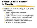 social cultural factors in obesity1