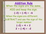 addition rule