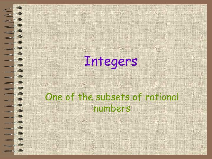 Integers