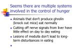 seems there are multiple systems involved in the control of hunger