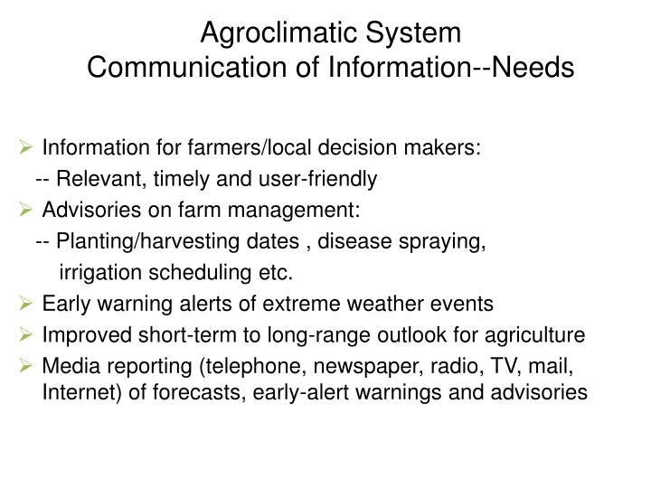 Agroclimatic