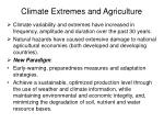 climate extremes and agriculture