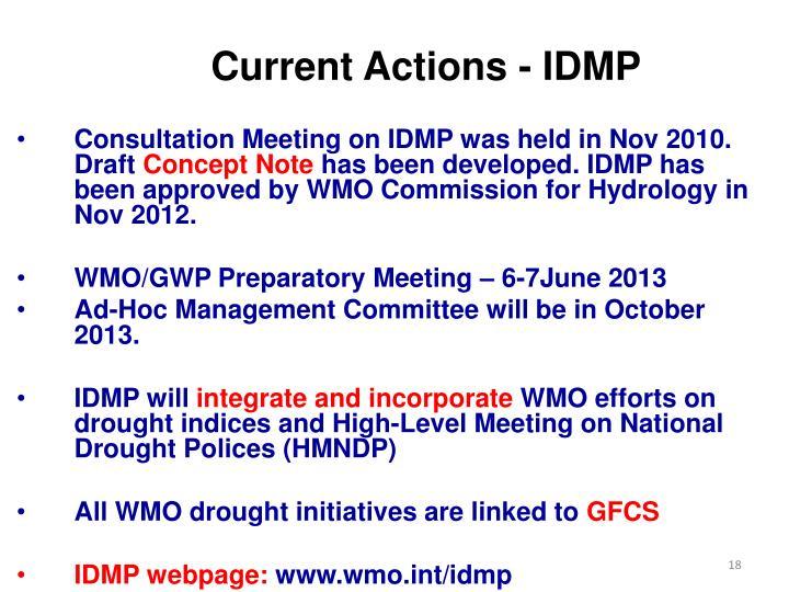 Current Actions - IDMP