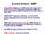 current actions idmp
