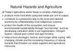 natural hazards and agriculture1