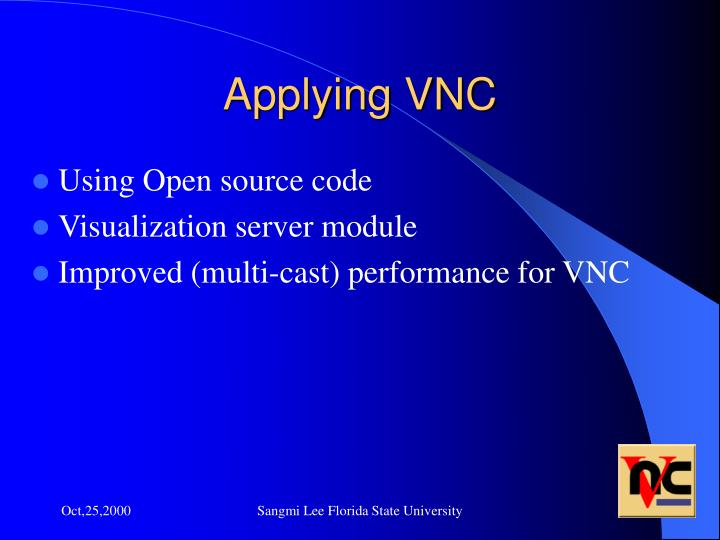 Applying VNC