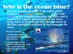 why is the ocean blue