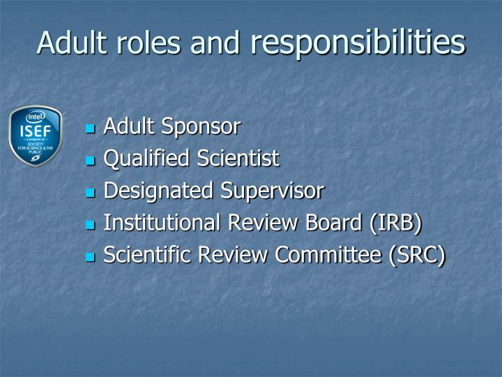 Adult roles and