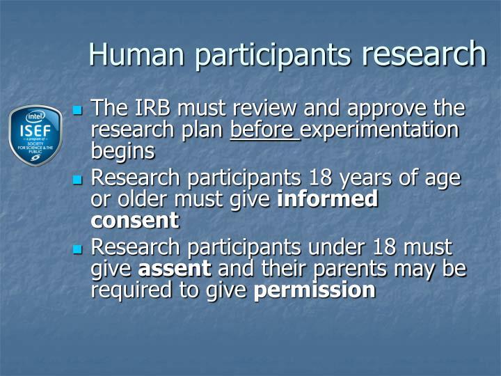 Human participants
