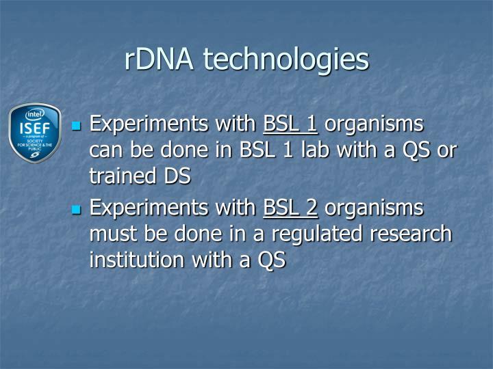 rDNA technologies