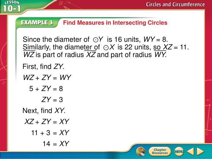 Since the diameter of         is 16 units,