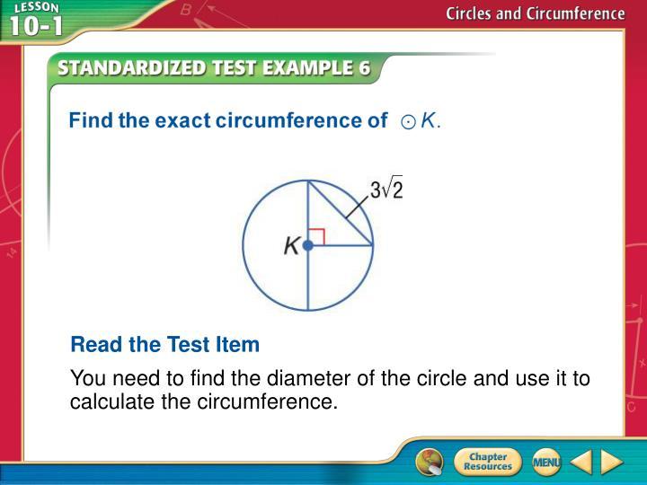 Read the Test Item