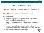 bpa s overarching goals