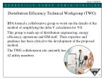 distribution efficiency technical workgroup twg