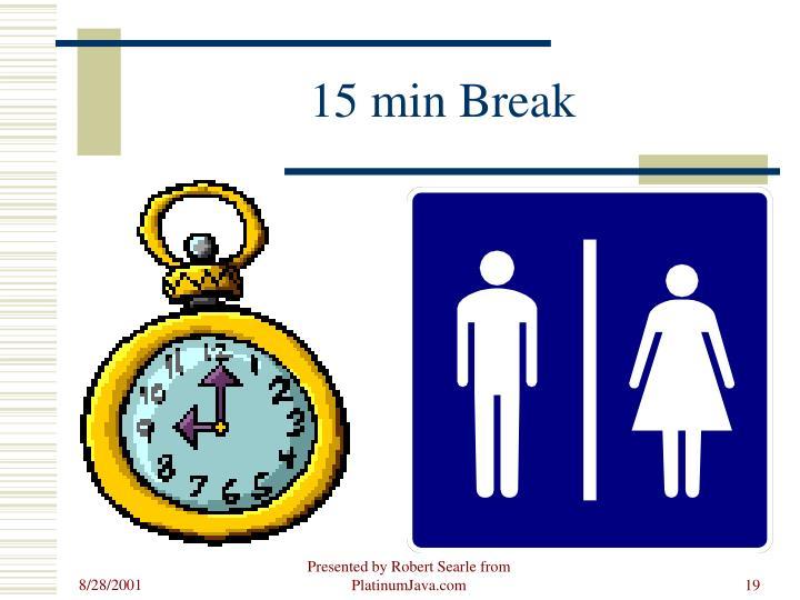 15 min Break