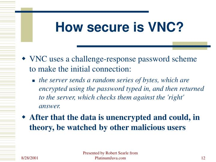 How secure is VNC?