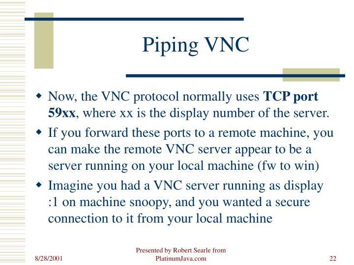 Piping VNC