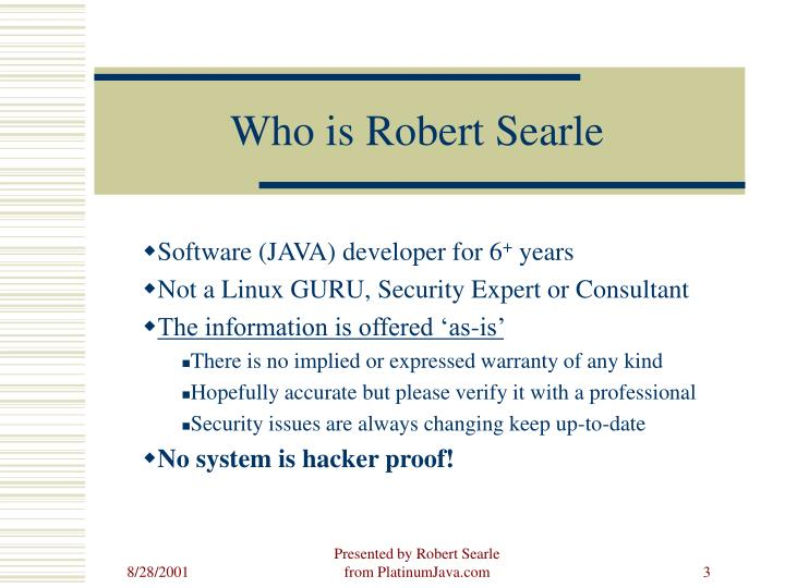 Who is Robert Searle
