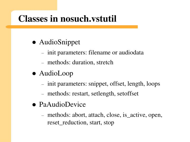 Classes in nosuch vstutil