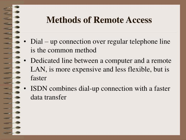 Methods of remote access