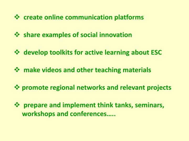 create online communication platforms